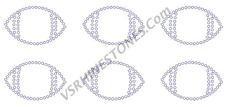 Football Outline Mini Rhinestone Transfer (6)